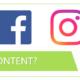 Gleicher Content Facebook Instagram